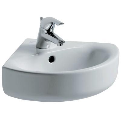 Arc 45cm Corner Washbasin, 1 taphole
