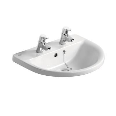 Arc 55cm Countertop Washbasin, 2 tapholes