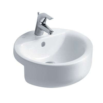 Sphere 45cm Semi-Countertop Washbasin, 1 taphole