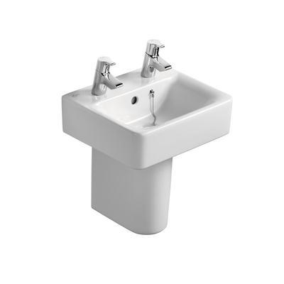 Cube 40cm Handrinse Washbasin, 2 tapholes