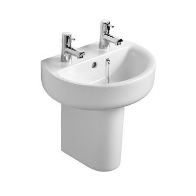 Sphere 45cm Handrinse Washbasin, 2 tapholes