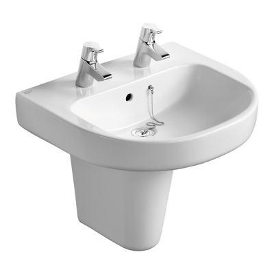 55cm Washbasin, 2 tapholes