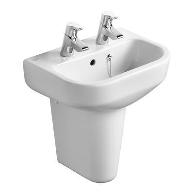 45cm Handrinse Washbasin, 2 taphole