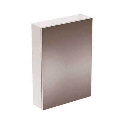 STRADA Зеркальный шкаф с 1 дверцей 50 см, петли слева