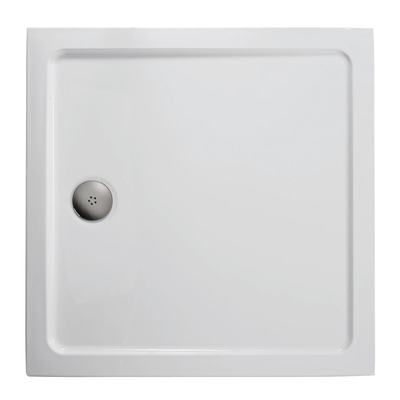 760x760mm Low Profile Shower Tray, Flat Top