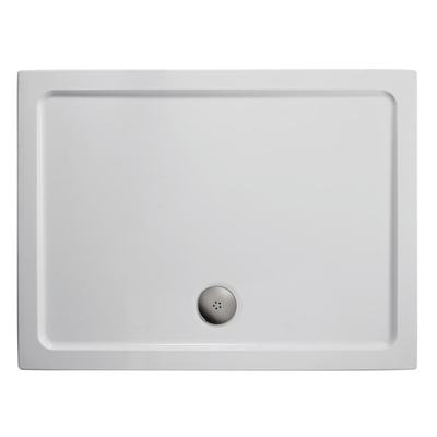 1000x800mm Low Profile Shower Tray, Upstands
