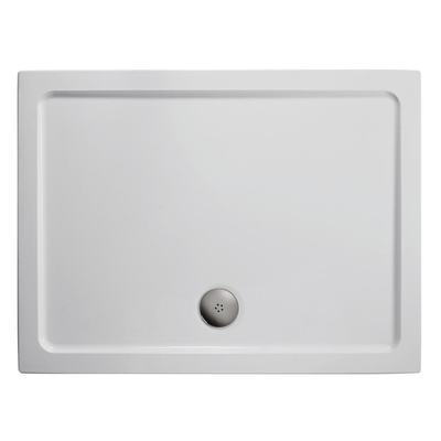 900x800mm Low Profile Shower Tray, Flat Top