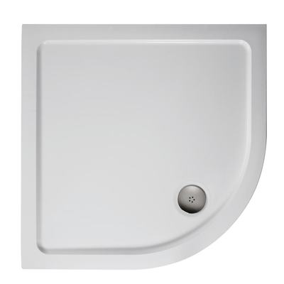 1000mm Quadrant Low Profile Shower Tray, Flat Top