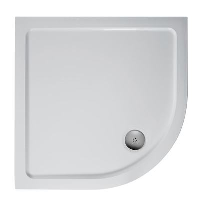 800mm Quadrant Low Profile Shower Tray, Flat Top