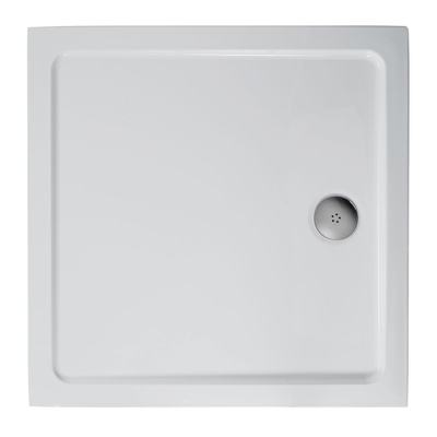 900x900mm Low Profile Shower Tray, Upstands