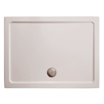 900x760mm Low Profile Shower Tray, Flat Top