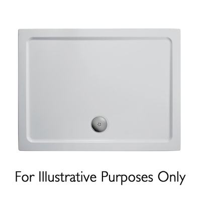 1600x800mm Low Profile Shower Tray, Flat Top