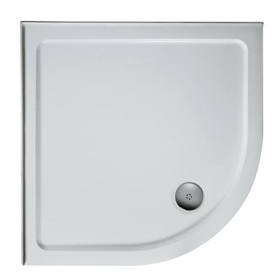 800mm Quadrant Low Profile Tray, Upstand